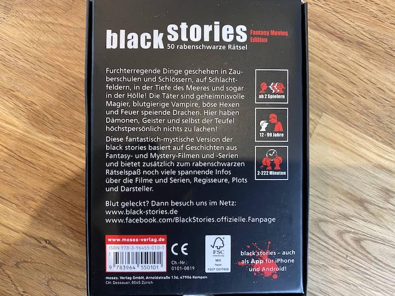 black stories Medizin Edition Rätsel Spiel Ratespiel Geschichten Gesellschaft