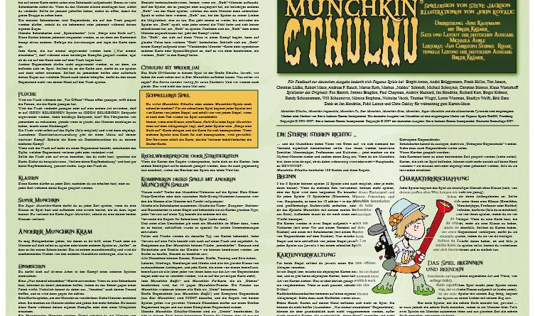 ᐅ Munchkin Cthulhu - Spielregeln & Spielanleitungen sowie Test, Bilder