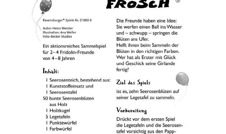 Eine Party für Fridolin Frosch