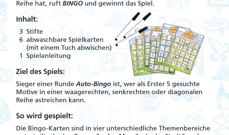 Regeln Bingo