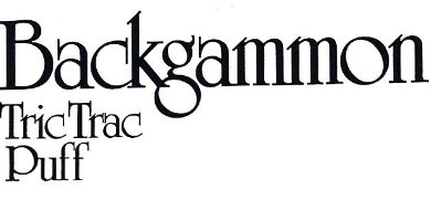 Backgammon Tric Trac Puff