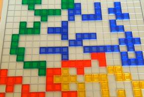 Blokus Strategiespiel Spielsituation