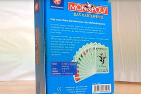 Monopoly das Kartenspiel Karton Rückseite