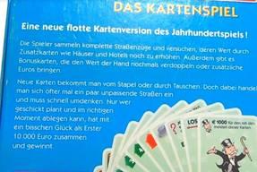 Monopoly das Kartenspiel Karton