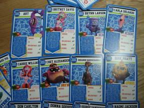 TopTrumps Monstersuniversity Karten ausgelegt 1