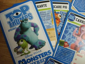 Top Trumps - Monster Uni diverse Karten