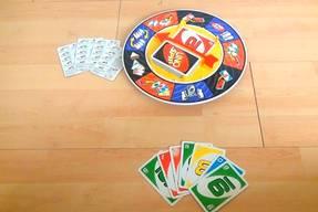 Uno Spin Kartenspiel Spielausstattung