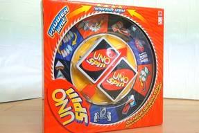 Uno Spin Spielkarton Vorderseite