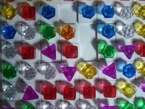 Bejeweled - Spielsteine auf dem Spielfeld