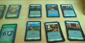 Dominion - Karten ausgelegt und angerodnet