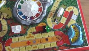 Spiel des Lebens - Spielbrett mit Drehrad
