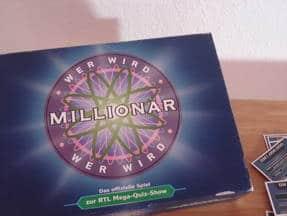 Wer wird Millionär - Box vorne