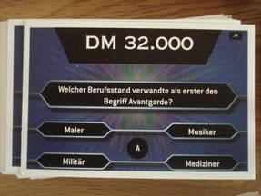 Wer wird Millionär - Fragekarten