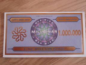 Wer wird Millionär - Million Spielgeldschei