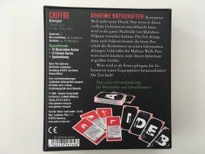 Chiffre - Duell der Code-Knacker Verpackung Rückseite
