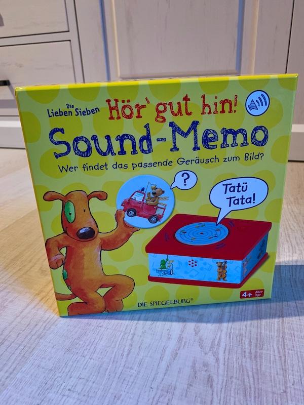 Sound Memory - Memory Spiel Karton Vorderseite