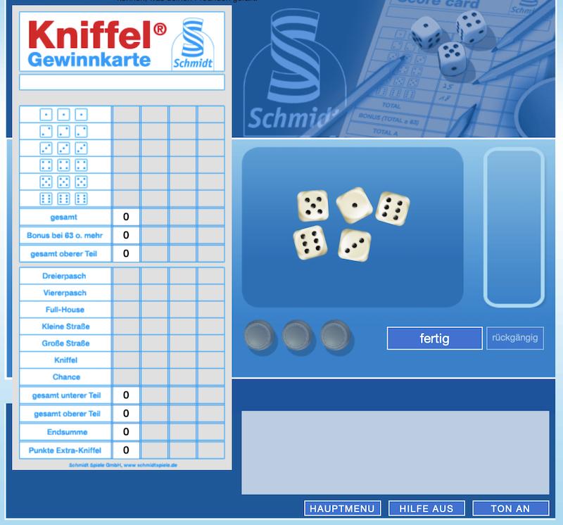 Kniffeln Online